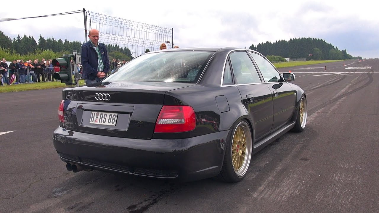 1000HP Audi S4 B5 AntiLag Sound Flames  Accelerations  YouTube