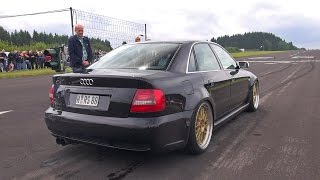 1000HP+ Audi S4 B5 Anti-Lag Sound! Flames & Accelerations!