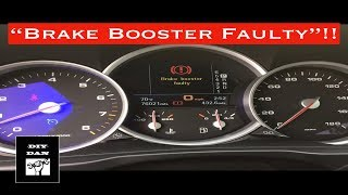 Porsche Cayenne: How I Fixed The Brake Booster Faulty Message
