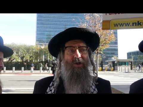 Rabbi Weiss speaking in favor of recent UNESCO resolution.
