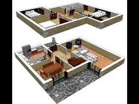 planos de casas modernas de dos plantas en 3d
