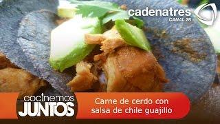 Carne De Cerdo Con Salsa De Chile Guajillo