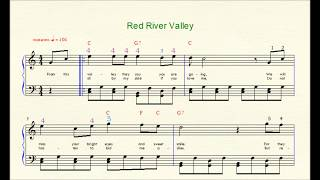 Red River Valley, Canadian, Folk Tune, 4 Note Chord