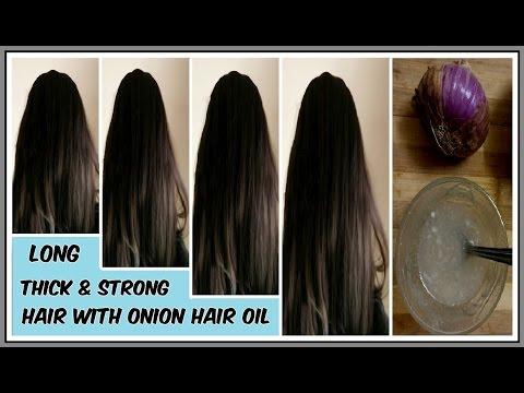 Onion Hair Oil - Fast Hair Regrowth, Hair Loss, Long & thick hair