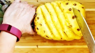 How to Cut Pineapple in Under 2 Minutes Like a Pro | Food Art @ Guru's Cooking