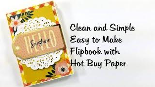 Easy to Make Clean and Simple Flipbook Mini Album Scrapbook Tutorial Polly's Paper Studio Process