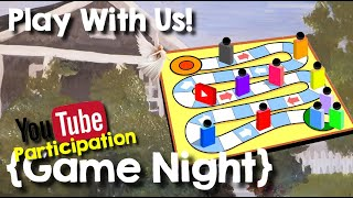 Live YouTube Participation Game Night & Package Opening
