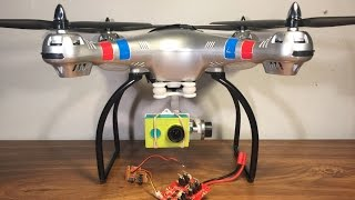 SYMA X8G BOARD REPLACEMENT AND GIMBAL ATTACHMENT