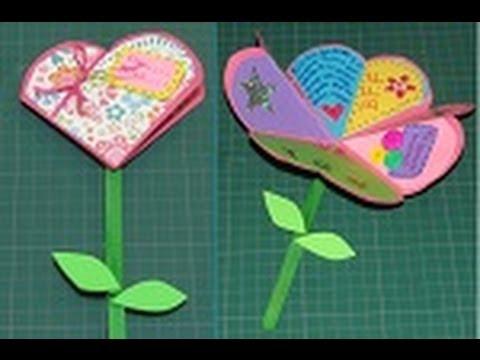 Manualidad Para San Valentín Carta De Corazón A Flor Youtube