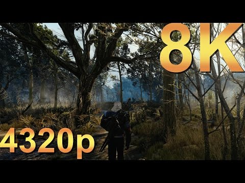 The Witcher 3 8K Ultra 4320p Gameplay High Resolution PC Gaming 4K | 5K | 8K and Beyond