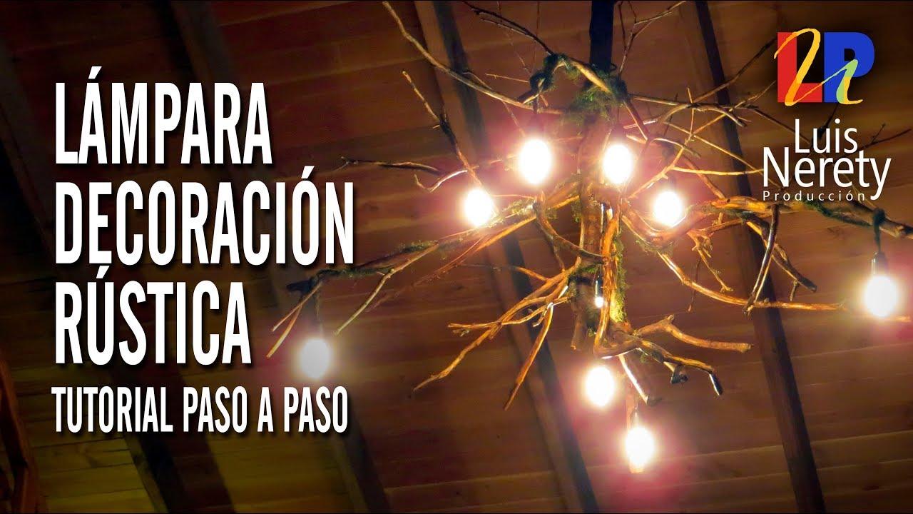 Lampara decoracion rustica youtube - Como decorar tulipas de lamparas ...