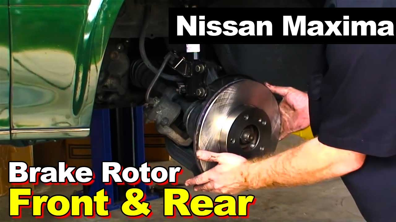 Nissan Maxima Front And Rear Brake Rotor
