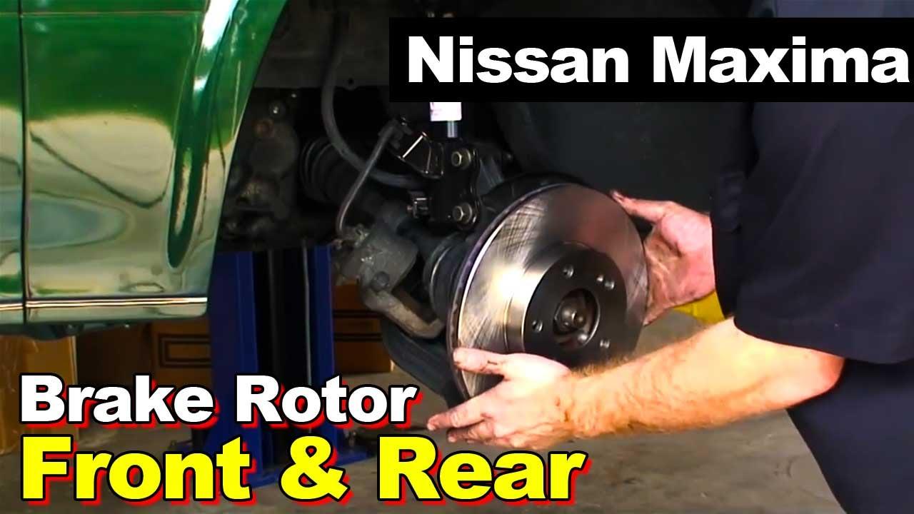 1997 Nissan Maxima Front And Rear Brake Rotor