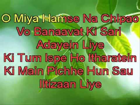 O Mere Sona Re Teesari Manzil) HIndi Karaoke With Lyrics)