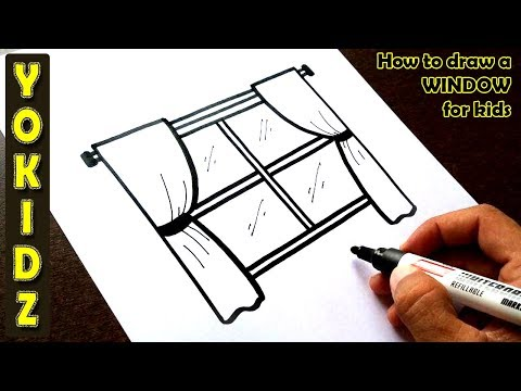 How To Draw A WINDOW For Kids