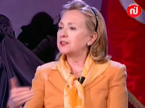 Secretary Clinton Participates in a Townterview in Tunis