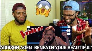 "The Voice 2017 Knockout - Addison Agen: ""Beneath Your Beautiful"" (REACTION)"