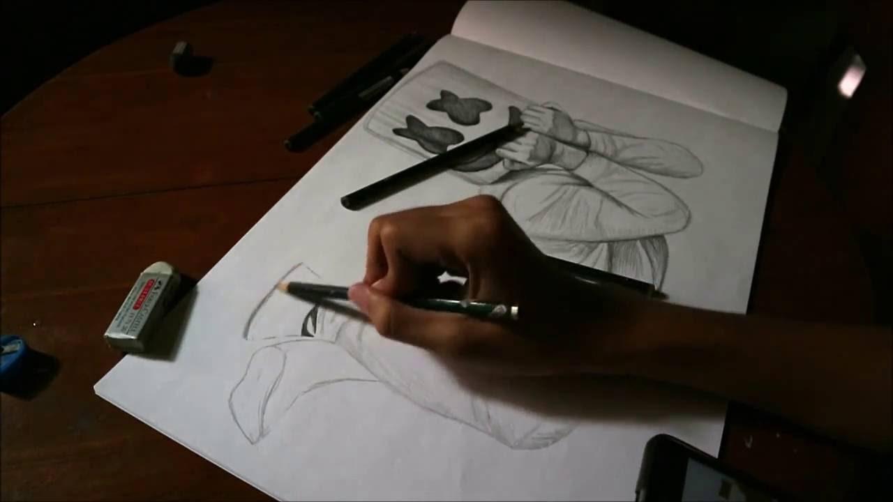 Drawing Marshmello Mellogang