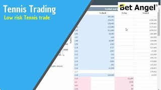 Betfair trading - Low risk Tennis trade