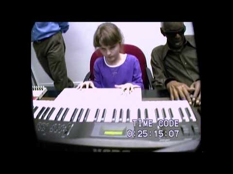 10-year old Rachel Flowers plays for Ray Charles
