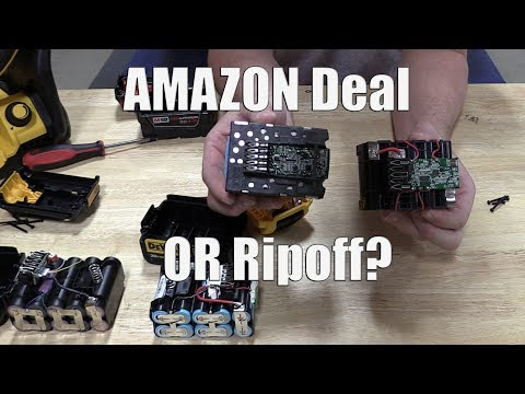 Fake Amazon Milwaukee M18 & DEWALT 20v Batteries Vs The Real