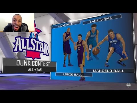 BEST DUNK CONTEST EVER! WHO IN THE BALL FAMILY WILL WIN? LONZO, LAMELO, LIANGELO OR LAVAR? NBA2K