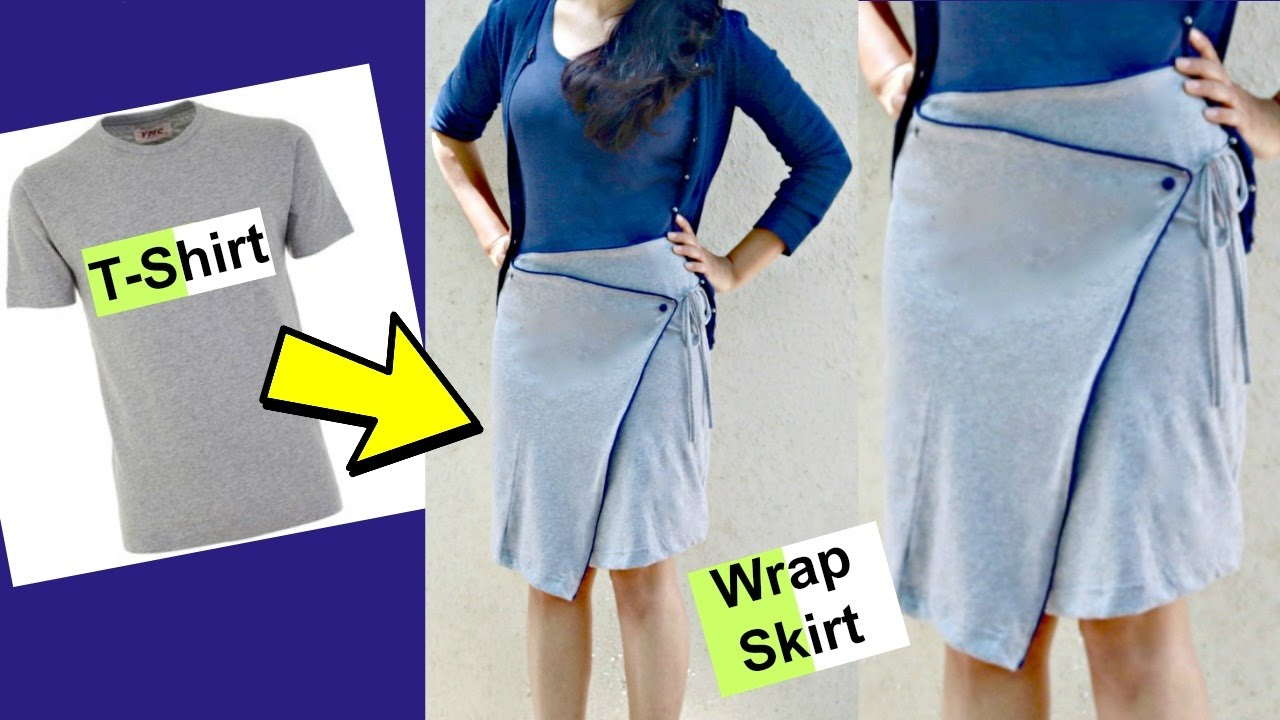 DIY: Convert old T-shirts into Wrap Around Skirts ...