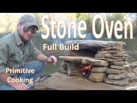 Primitive Stone Oven Build (with cooking catfish test)