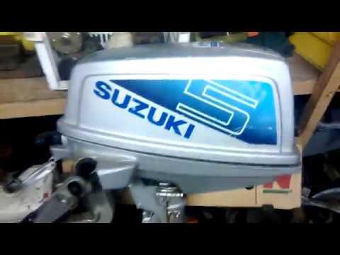 Suzuki 5hp longshaft outboard 2 cycle boat motor buy - YouTube