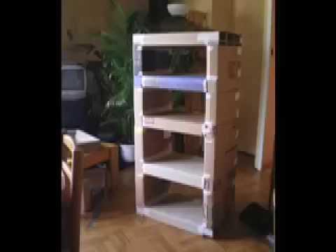 meuble carton en deux minutes youtube. Black Bedroom Furniture Sets. Home Design Ideas
