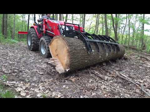 #160 Lift Capacity, Testing GRANITE GRAPPLE on RK 37 Compact Tractor Part 2