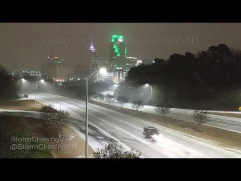 Raleigh, NC Snow storm overnight - 1/4/2018