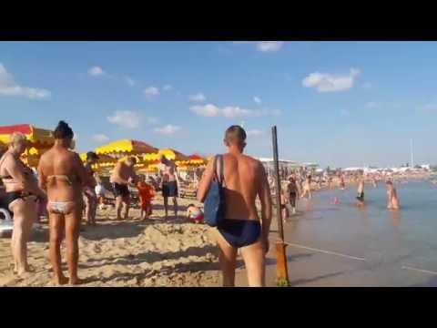 Евпатория сегодня 24 июля 2016. Пляж Заозерное.
