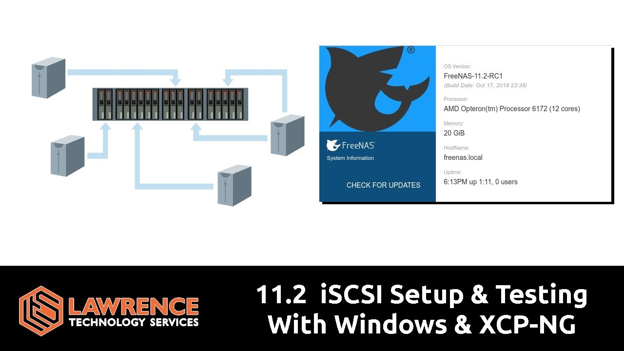 FreeNAS 11 2 iSCSI Setup & Testing With Windows & XCP-NG