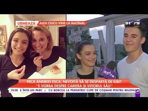 Fiica Andreei Esca, nevoită să se despartă de iubit