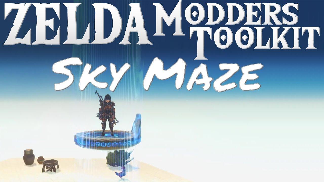 SKY MAZE DUNGEON! Zelda Breath of the Wild Mod