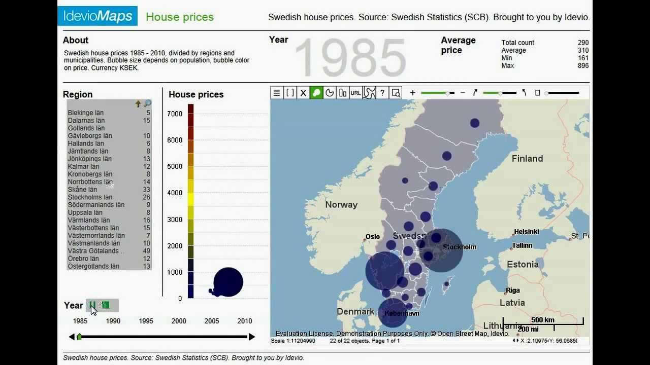 IdevioAnimator, making map animations with QlikView and IdevioMaps on