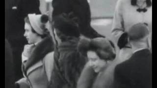 BBC Newsreel - King George VI & Queen Elizabeth see the royal departure - 1 Feb 1952