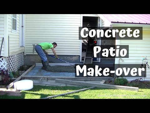 How To Pour New Concrete Over Old Concrete | Stamped Concrete Patio