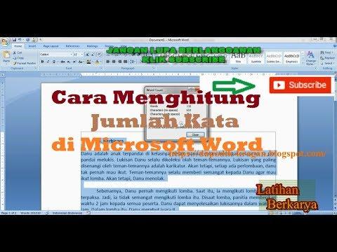 Cara Menghitung Jumlah Kata di Microsoft Word - YouTube
