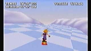 FF7 - Gold Saucer - Snowboard Course A - 1'02''250