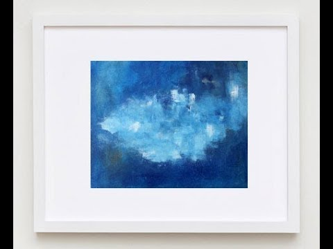 Blue Painting on Canvas – Blue Abstract Art – Online Affordable Art Gallery