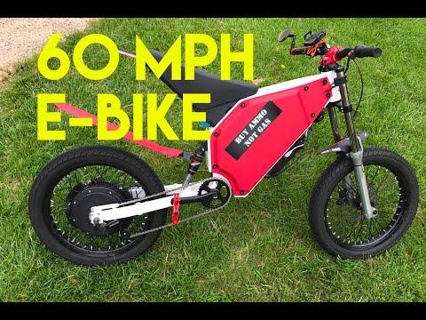 High Power 60+ MPH Electric Bike