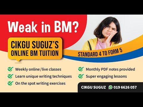 Bahasa Melayu PT3 - Teknik SKLK - Online BM Tuition