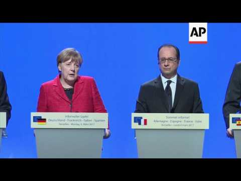 European leaders call for a multi-speed Union
