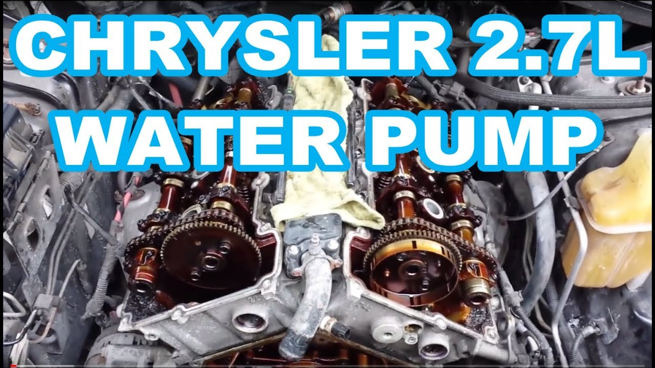 water pump replacement chrysler 2 7l engine overview not a how to rh youtube com Dodge Ram 1500 Engine Diagram 2004 Dodge Stratus Engine Diagram
