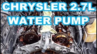 WATER PUMP REPLACEMENT CHRYSLER 2.7L ENGINE OVERVIEW not a how to intrepid  avenger dodge charger - YouTubeYouTube
