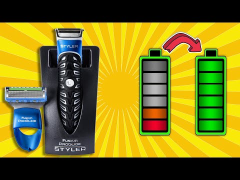 Gillette Fusion ProGlide Styler 3 in 1 - how to change a battery.