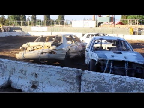 Modesto High Schools Compete in Demolition Derby - Full Demolition Derby