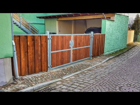 Favorit 2-flügeliges Einfahrtstor selber bauen - Eingangstor, Hoftor KM77